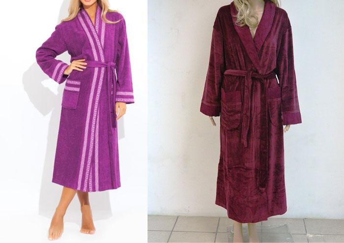 Махровые халаты длинные