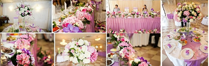 оформление торжества розовой свадьбы