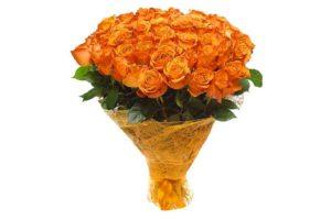 Розы оранжевого цвета