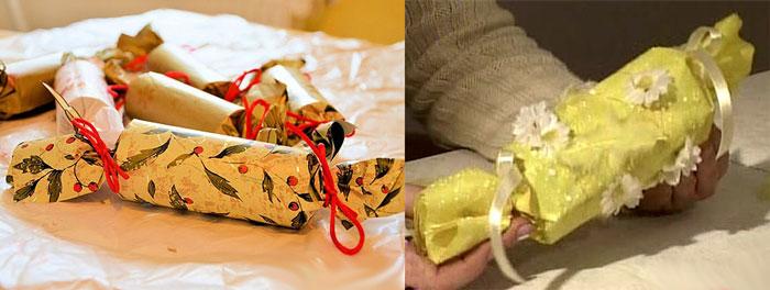 Упаковка подарка в форме конфеты