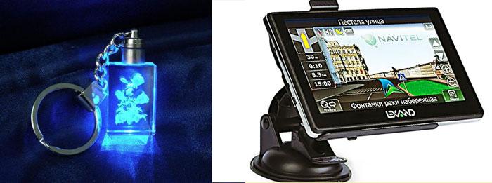 Брелок с подсветкой и навигатор
