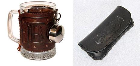Кожанный чехол для очков и кружка в кожанном чехле