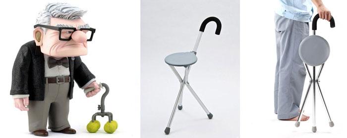 Складная трость-стул