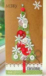 Пример рождественской открытки от взрослых
