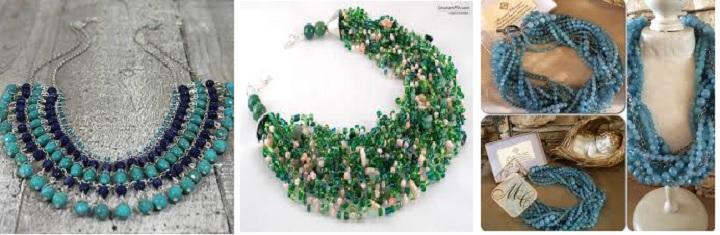 Ожерелье из натуральных камней