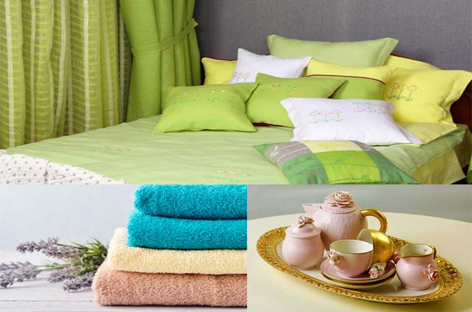 Текстиль для дома и чайный сервиз