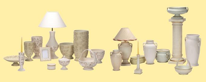 Предменты интерьера: вазы, лампы, свечи