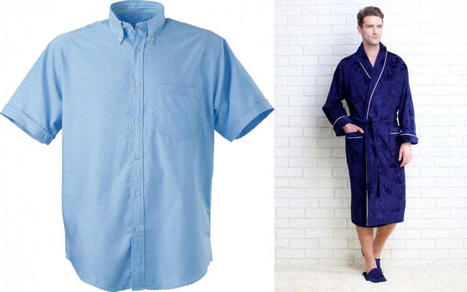 Ситцевые рубашка и халат мужские