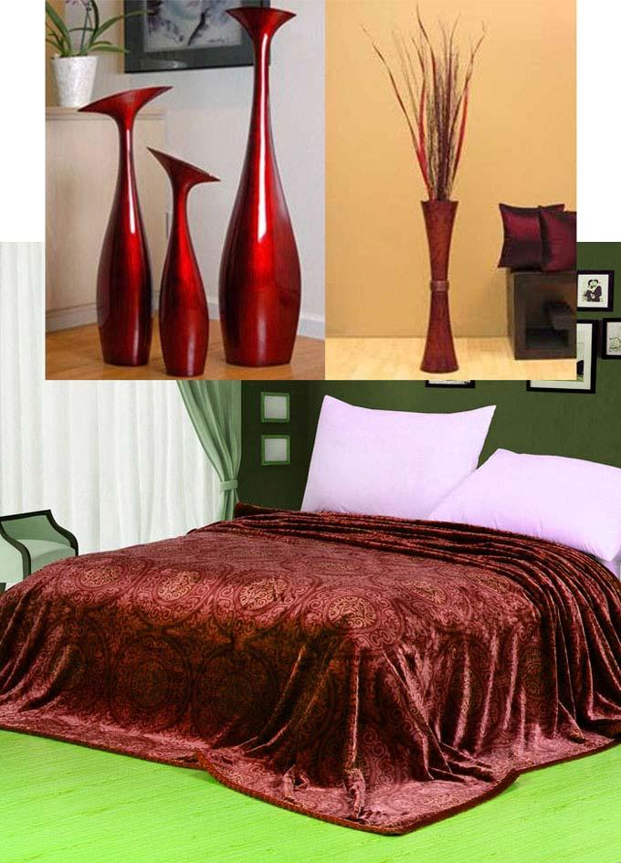 Рубиновые вазы и покрывало