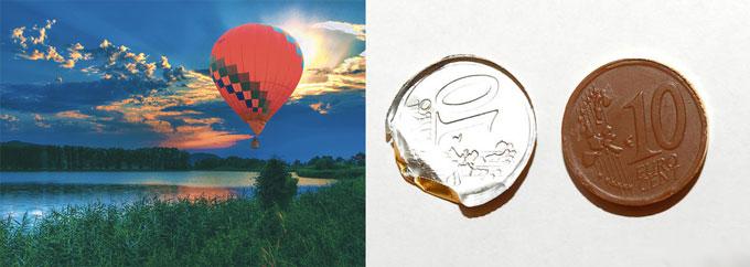 Полет на воздушнмо шаре и шоколадные монеты