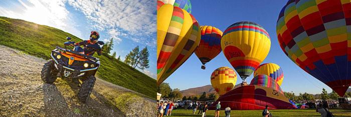 Полет на воздушном шаре и прогулка на квадрациклах
