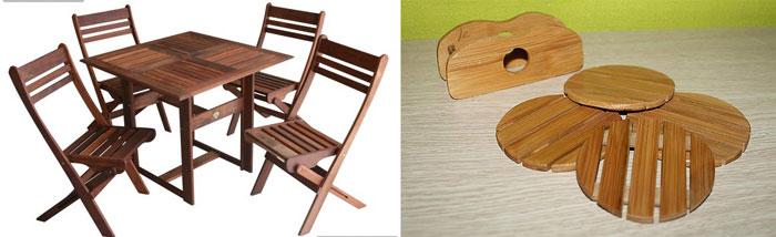 Деревянная кухонная мебель и подставки