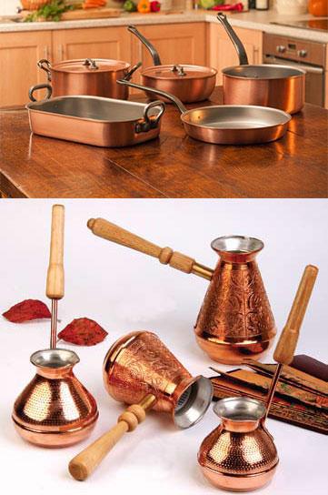 Медные посуда и турки