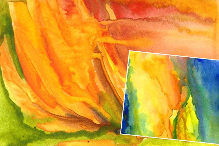 Фоны красками для рисунков