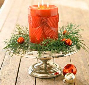 Подсвечник для рождественской свечи