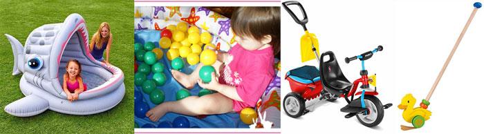 Детские басейны, толокар и каталки