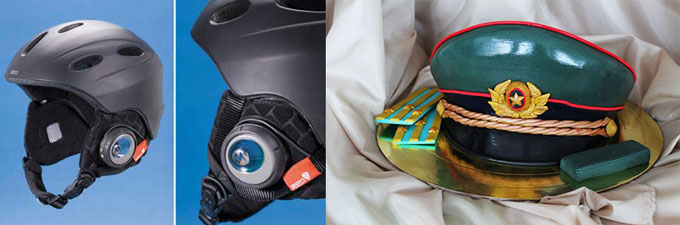 Шлем с нацшниками и фуражка военная