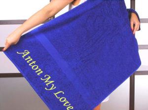 Вышитое полотенце