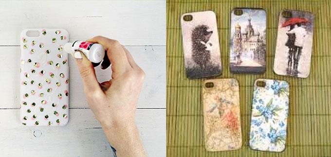 Челы для телефона с декором