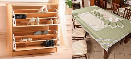 Комплект кухонного белья и подставка для обуви