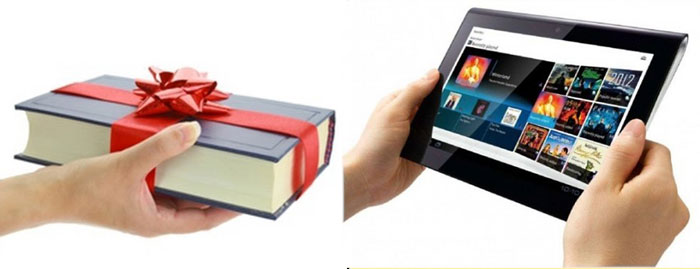 Книга в подарок и планшет