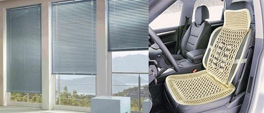 Жалюзи на окна и массажный чехол в автомобиль
