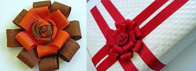 Красные банты на подарки