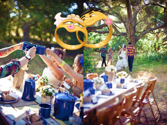 Жестяная свадьба на природе