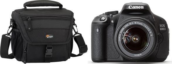 Фотоаппарат canon и сумка