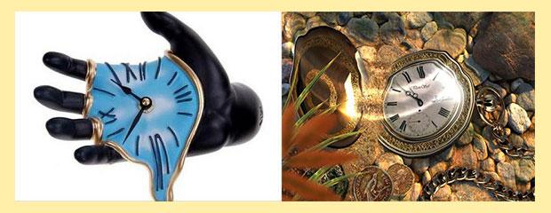 Часы под водой и время