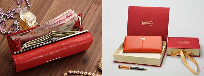Кошелек с деньгами и кошелек с упаковкой