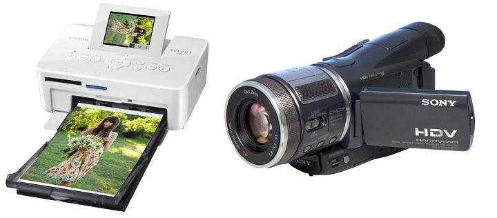 Фотопринтер и видеокамера