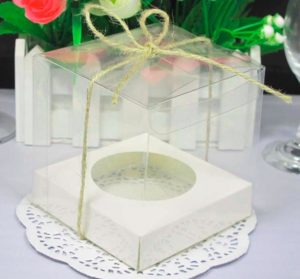 Прозрачная пластиковая коробка-упаковка