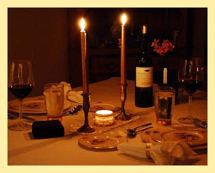 Романтичный ужин при свечах