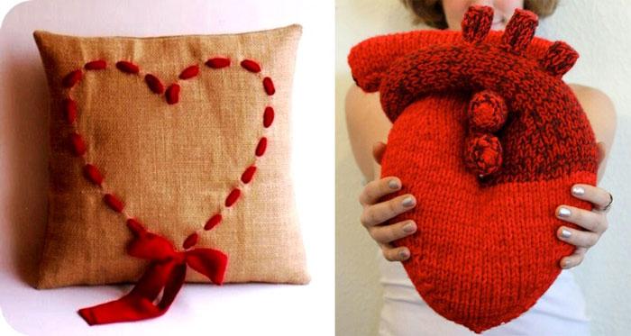 Подушки сердечки или с сердечками