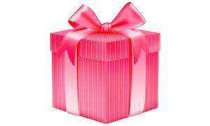 Розовая упаковка для подарка