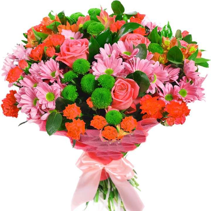 Розы в сочетании с другими цветами