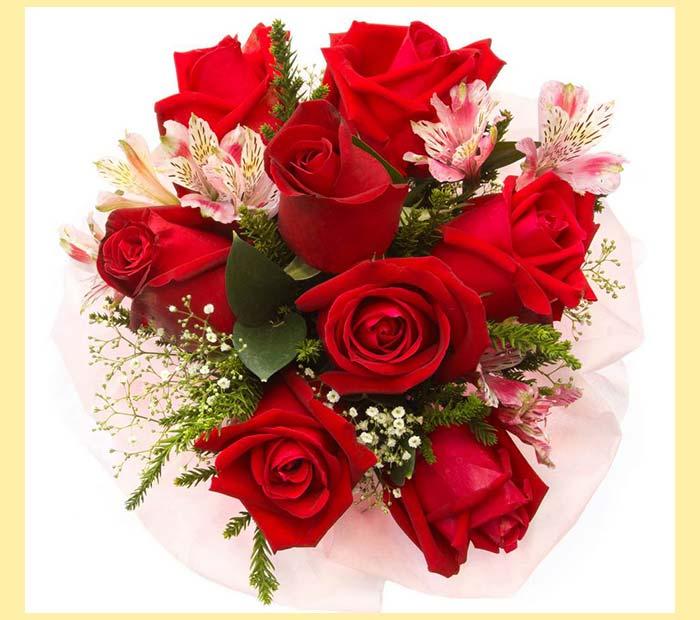 Букет роз красных