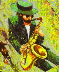 рисунок саксофониста
