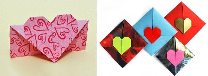 Валентинка в форме конверта