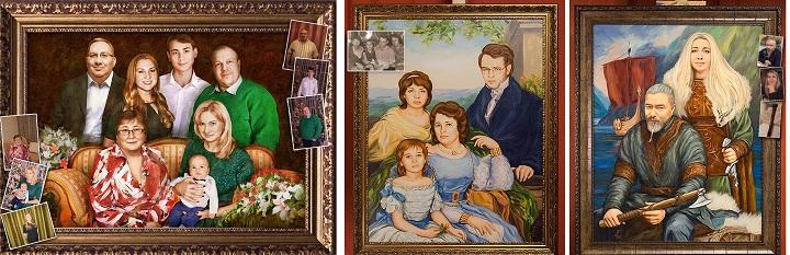 Семейный портрет по фотографиям
