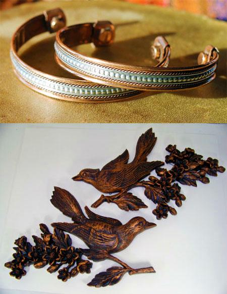 Медные браслеты и сувенирчик