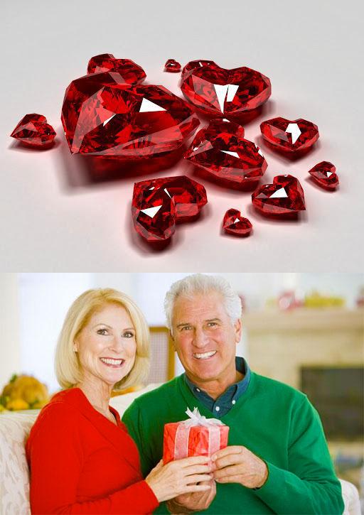 Рубины и пара с подарком