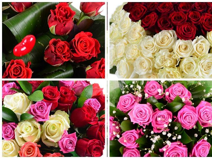 Четыре варианта сочетания роз