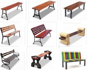 Выбор уличных скамеек