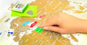 Скретч-карта в подарок для путешественников