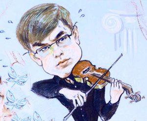 рисунок скрипача