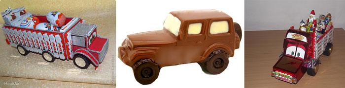 Автомобили из конфет