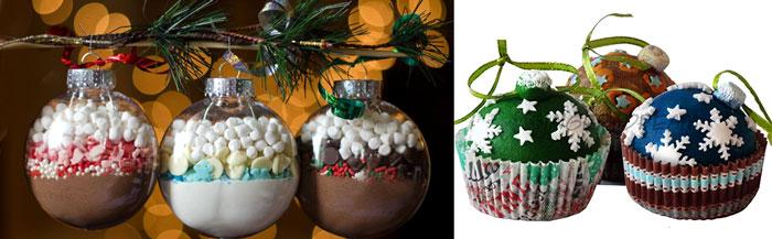 Капкейки и шары новогодние сладкие