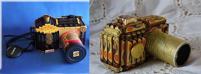Фотоаппараты из шоколадок